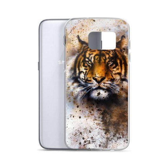 wildlife tiger, eye contact Samsung Case