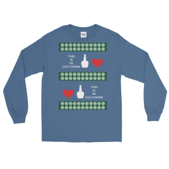 Ugly Christmas Sweaters - this is my ugly drink Long Sleeve Shirt