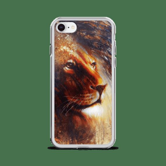 lion face iPhone Case