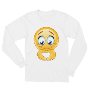 Unisex Heart hand Emoji Long Sleeve T-Shirt