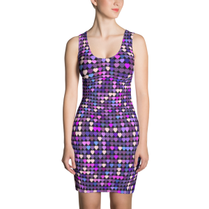 Colorful Glitter Hearts, Party Dress
