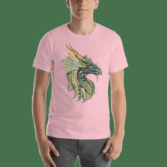 Dragon Patterned Head Short Sleeve Unisex T-Shirt