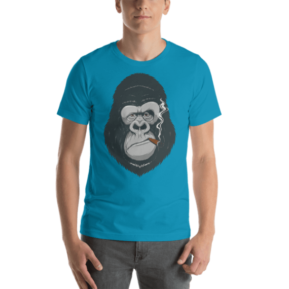 Funny Mad Monkey with a Cigarette Short Sleeve Unisex T-Shirt