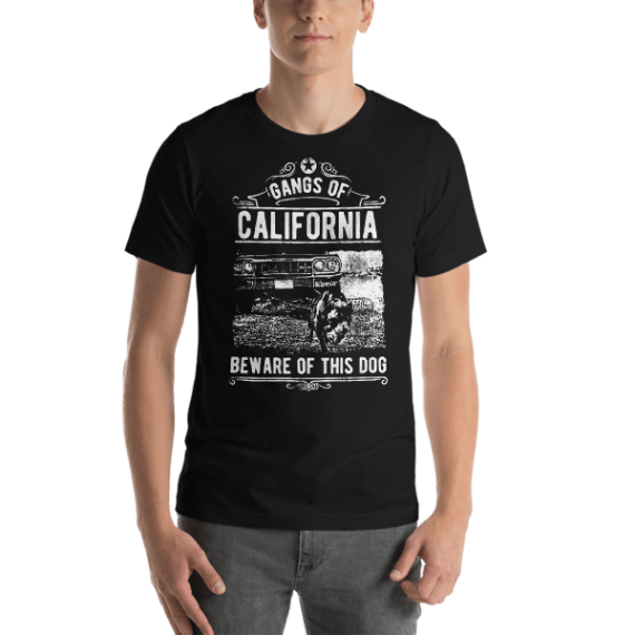 Gangs Of California Beware of this Dog Short Sleeve Unisex T-Shirt
