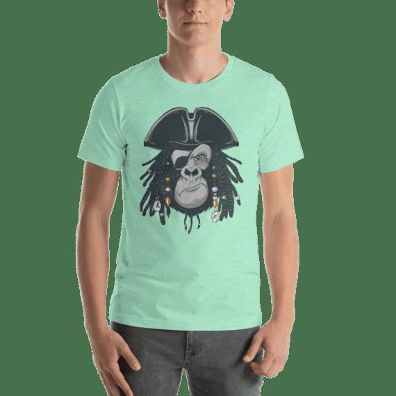 Monkey Harsh Pirate Short Sleeve Unisex T-Shirt