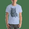 Ornamental Decorative Wolf Short Sleeve Unisex T-Shirt