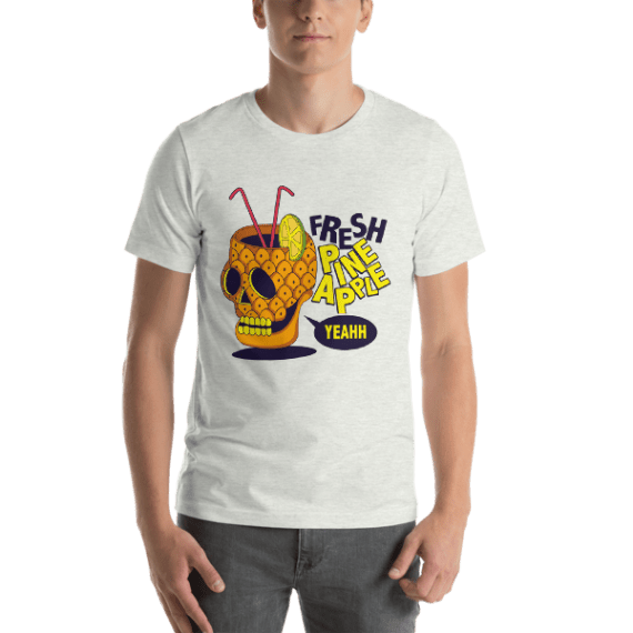 Pineapple Skull Short Sleeve Unisex T-Shirt