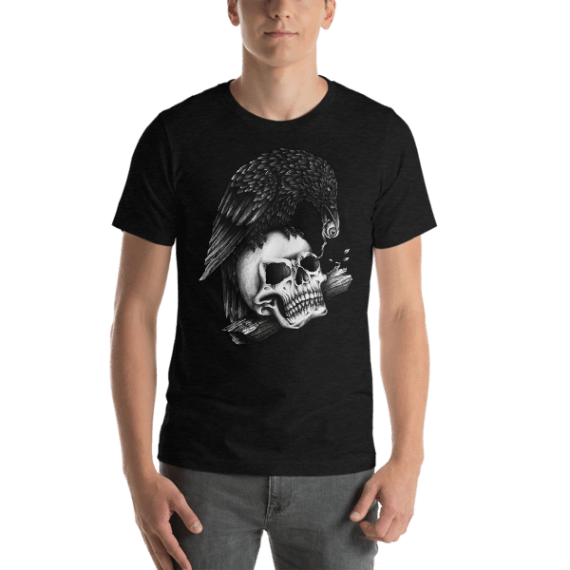 Skull Crow Short Sleeve Unisex T-Shirt