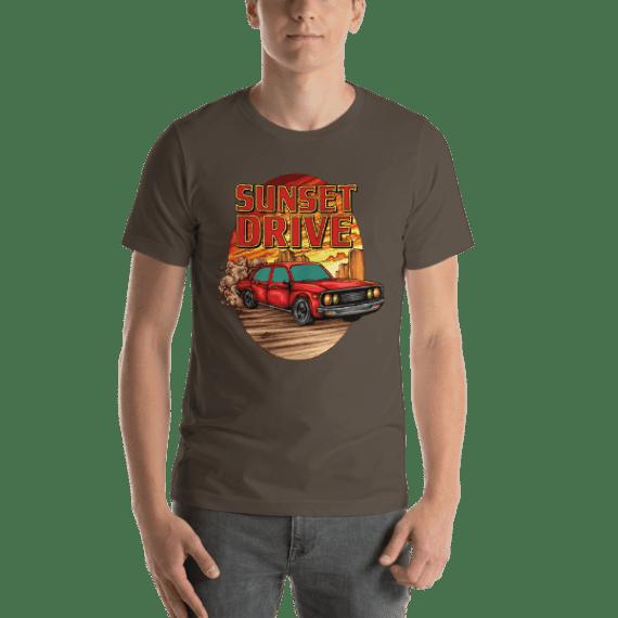 Sunset Drive Short Sleeve Unisex T-Shirt