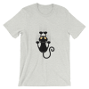 Women's Funny Black Cat with Scratches Short Sleeve T-Shirt