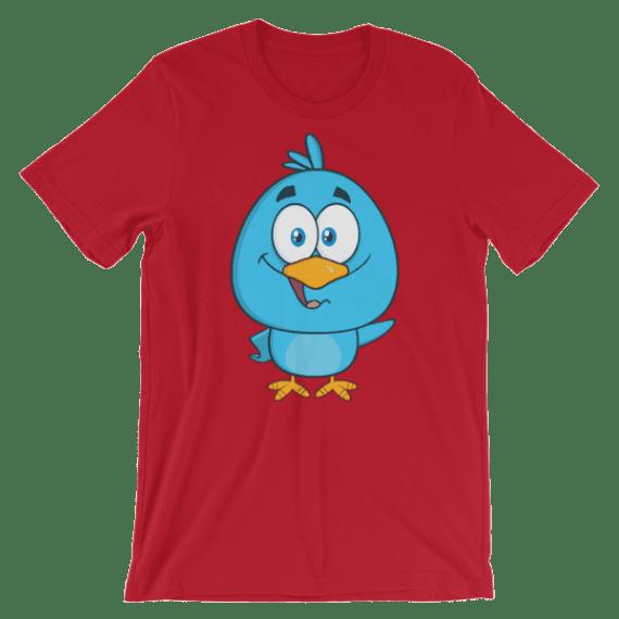 Women's Funny Blue Bird Short Sleeve T-Shirt