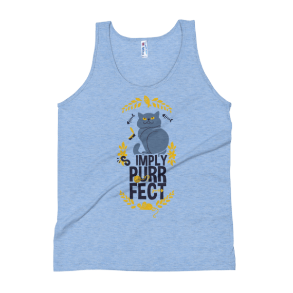 """Women's Gift for Cat Lovers, """"Simply Purrfect"""" Tank Top"""