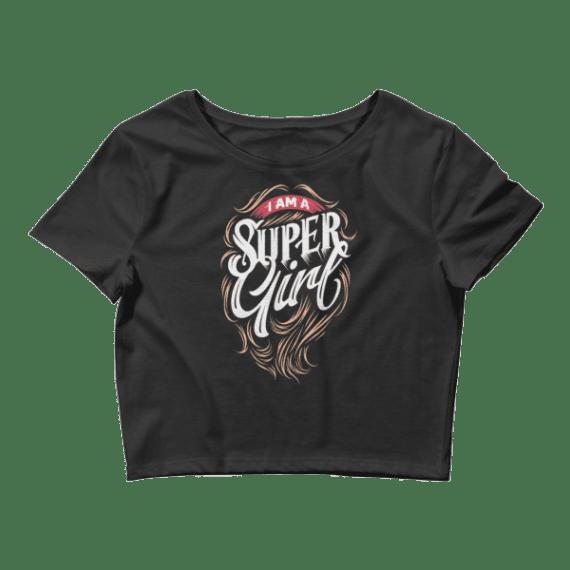 Women's I am a Super Girl Crop Top