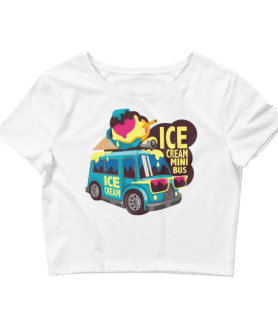 Women's Ice Cream Mini Bus Crop Top