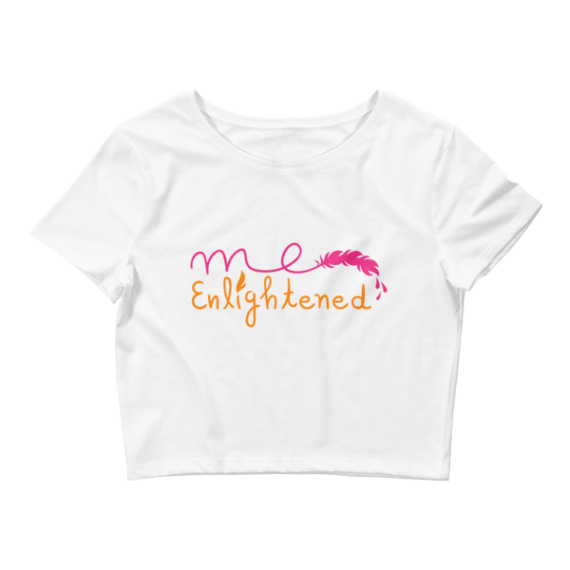 Women's Me Enlightened - Typography Crop Top
