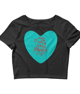 Women's Me Love Holidays Crop Top
