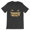 Women's Scary Monster Teeth and Eyes Short Sleeve T-Shirt