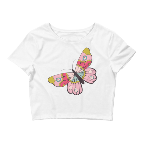 Women's Sexy Butterfly Crop Top