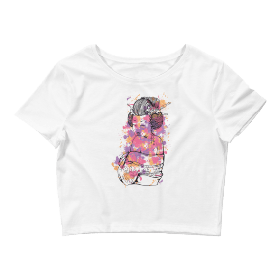 Women's Sexy Chinese Lady Crop Top