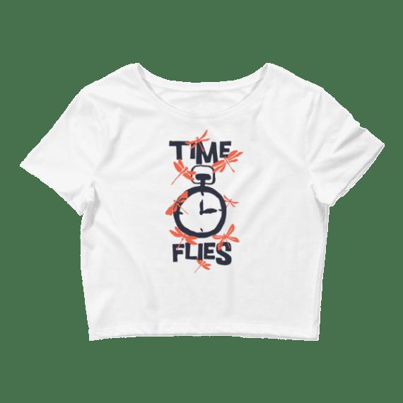 Women's Time Flies - Funny Crop Top