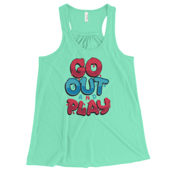Women's Go Out And Play Flowy Racerback Tank Top
