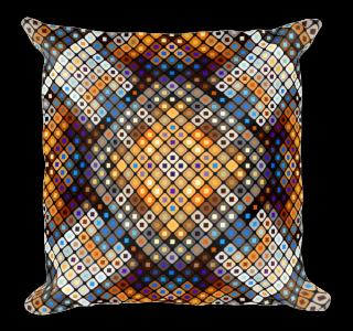 Adorable Mosaic Square Square Pillow