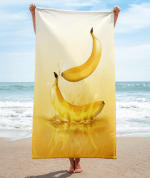 banana drop on juice splash and ripple towel