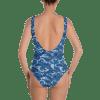Blue Camouflage One Piece Swimsuit - Ladies' Beachwear Bathing Suit