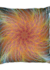 Colorful Digital Art Flower Square Pillow
