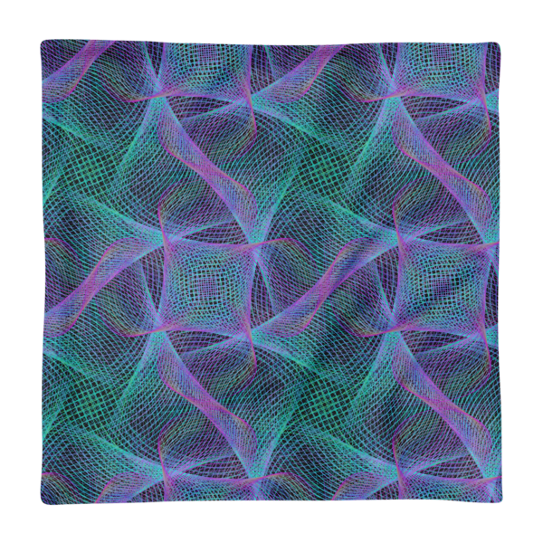 Colorful Web Square Pillow Case only