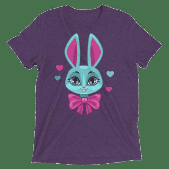 Cute Bunny Girl Face Short sleeve t-shirt