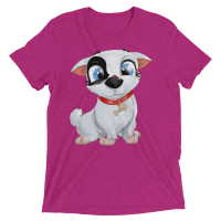 Cute Dog with Lady Bug Women's Short sleeve t-shirt