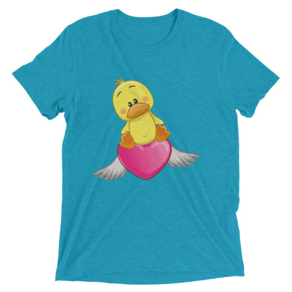 Cute Duck with Angel Heart Short sleeve Women's t-shirt