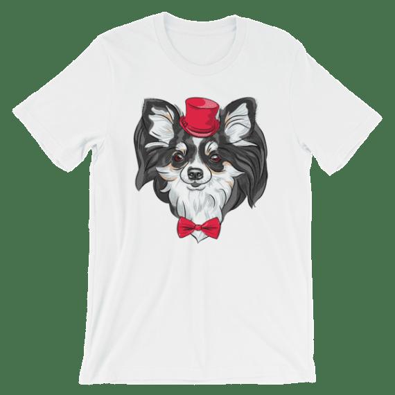 Cute Hipster Dog Chihuahua Short Sleeve Women's T-Shirt