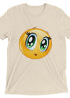 Cute Manga Girl Emoji T Shirt - Funny Smiley Face Emoticon Short sleeve t-shirt