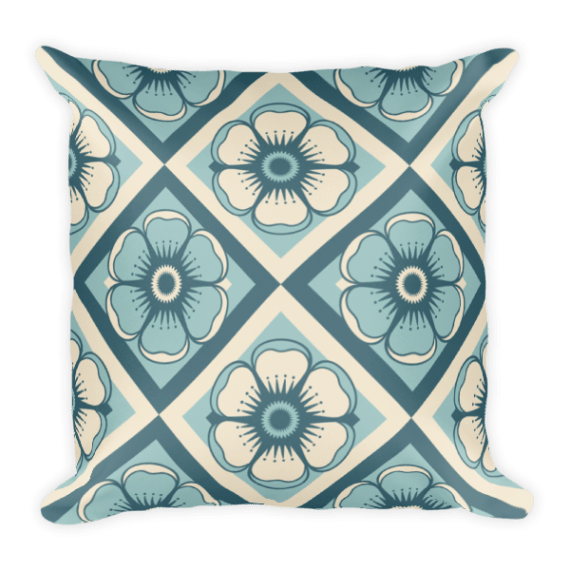 Decorative Flowers Square Pillow