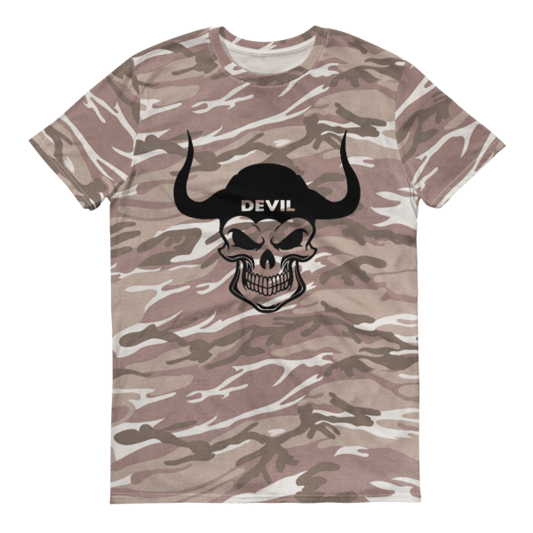 Devil Skull Short-sleeved camouflage t-shirt