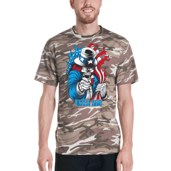 Evil Uncle Sam Short-sleeved camouflage t-shirt