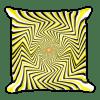 False Movement Illusion Square Pillow