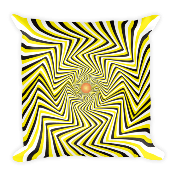 False Movement Illusion Square Pillow