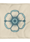 Flower on Oatmeal Square Pillow Case only