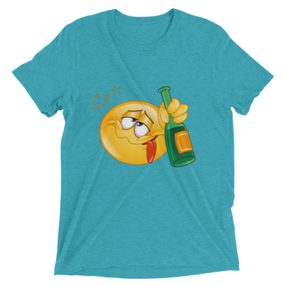 Funny Drunk Emoji Shirts - Smiley Face Unisex Tshirts - Let's Party Short sleeve t-shirt