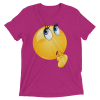 Funny Wonder Female Emoji Face T Shirt - Women's Thinking Face Emoji Short sleeve t-shirt