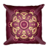Gold-Purple Pea Flowers Square Pillow