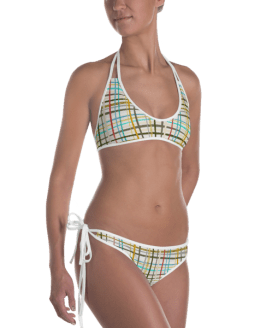 Hot Summer Striped Reversible Bikini - Ladies' Beachwear Bathing Suit