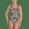 It's summer time, Sweet Coconut Milk Striped One Piece Swimsuit - Ladies' Fun Wear Sexy Beachwear Bathing Suit