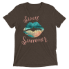 LADIES' FUN WEAR SEXY LIPS SHIRTS – SWEET SUMMER TROPICAL STYLE SHORT SLEEVE T-SHIRT