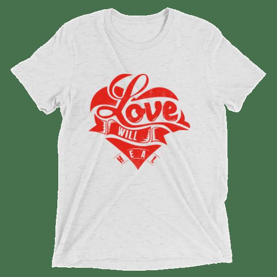 Love Will Heal Short sleeve Unisex t-shirt