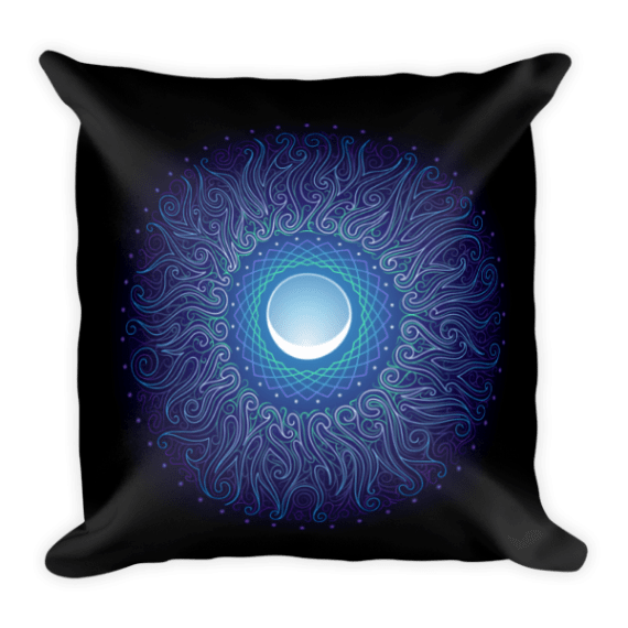 Moon Flower Square Pillow