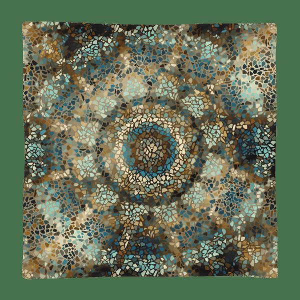 Mosaic Mandala Square Pillow Case only